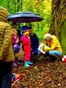 EJ Reading Under Beech Tree JOhnny Magory in the Magical Wild
