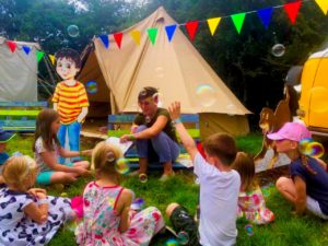 Emma-Jane Leeson hosting a Johnny Magory heritage and wildlife workshop at Kaleidoscope Festival 2019
