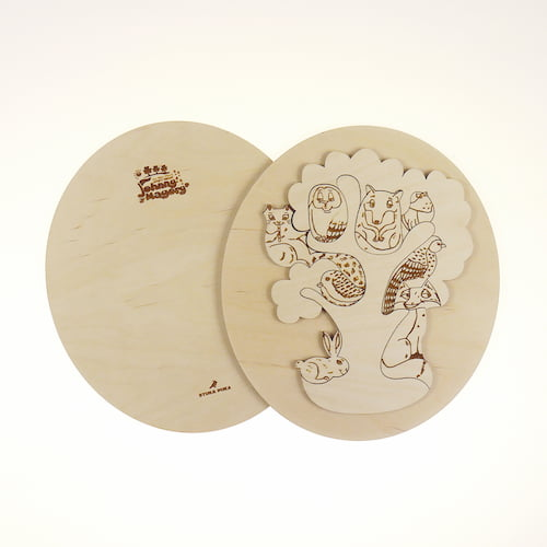 Johnny Magory Wooden Eco Puzzle Forest Animals