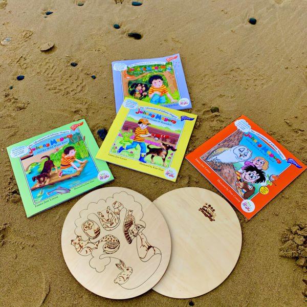 Johnny Magory Explorer Bundle on beach IRish summer seaside books
