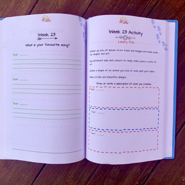 Johnny Magory 3 year journal for kids one question a week