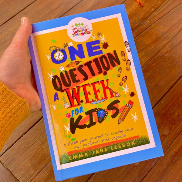 Johnny Magory Journal One question a week. 3 year journal for kids