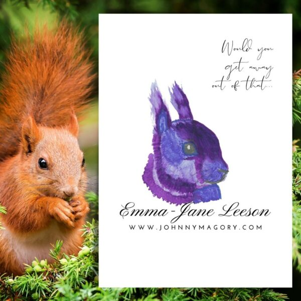 Iora Corcra Emma JAne Leeson Squirrel Art