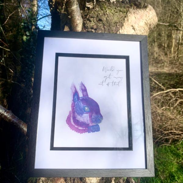 Iora Corcra Emma-Jane Leeson Squirrel Watercolour