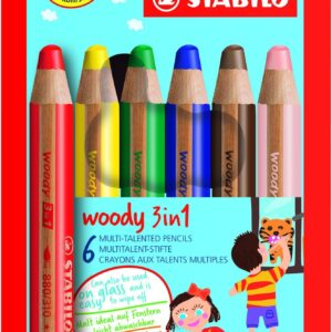 Colouring pencils: STABILO Woody 3-in-1 solid-paint pencils