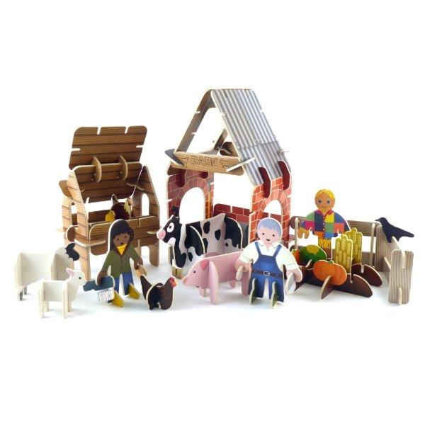 Farmyard Build and Play Set Johnny Magory
